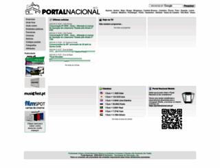 portalnacional.com.pt screenshot