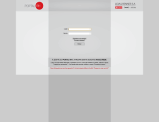portalrh.lojasrenner.com.br screenshot