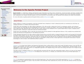 portals.apache.org screenshot