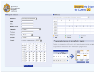 portaluc.puc.cl screenshot