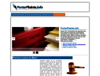 porterplainte.info screenshot