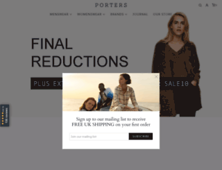 portersmenswear.com screenshot