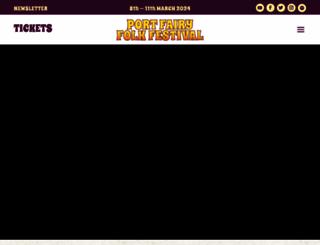 portfairyfolkfestival.com screenshot
