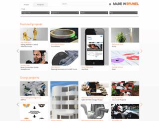 portfolio.madeinbrunel.com screenshot