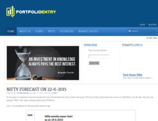 portfolioentry.com screenshot