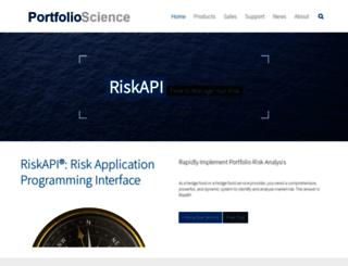 portfolioscience.com screenshot