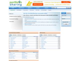 portfoliosharing.com screenshot