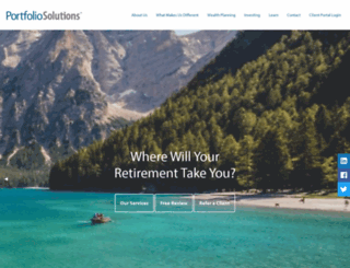 portfoliosolutions.com screenshot