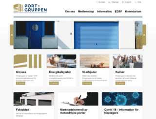 portgruppen.org screenshot