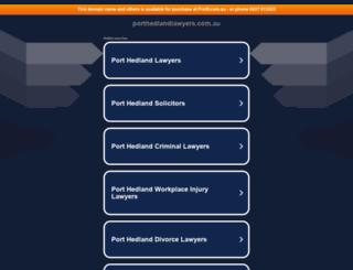 porthedlandlawyers.com.au screenshot