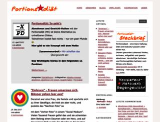 portionsdiaet.de screenshot