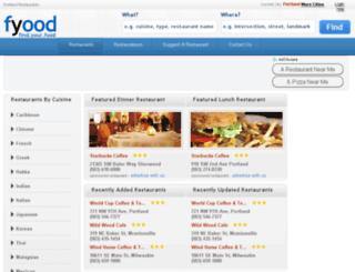 portland.fyood.com screenshot