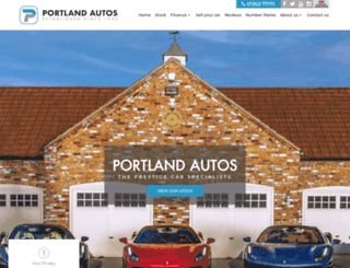 portlandautos.co.uk screenshot