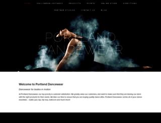 portlanddancewear.com screenshot
