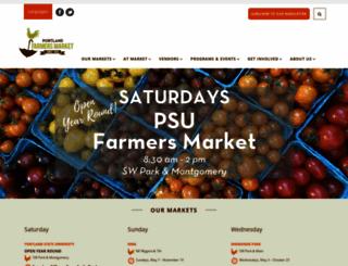 portlandfarmersmarket.org screenshot