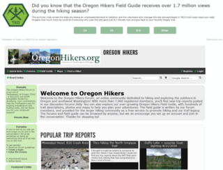 portlandhikers.org screenshot