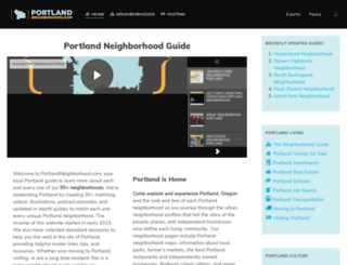 portlandneighborhood.com screenshot