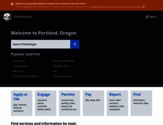 portlandonline.com screenshot