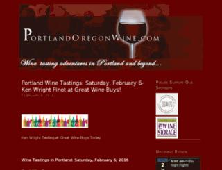 portlandoregonwine.com screenshot