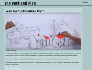 portlandplan.org.uk screenshot