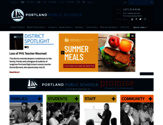 portlandschools.org screenshot