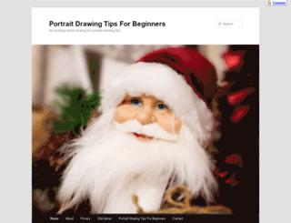 portraitdrawingtipsforbeginners.com screenshot