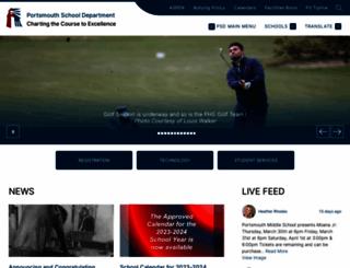 portsmouthschoolsri.net screenshot