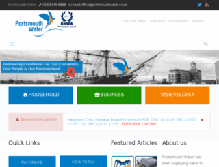 portsmouthwater.co.uk screenshot