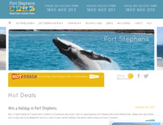 portstephenshotdeals.com.au screenshot