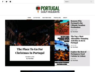 portugal-golf-holidays.com screenshot