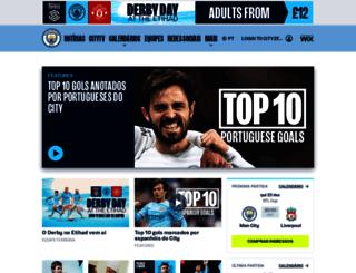 portugues.mcfc.com screenshot