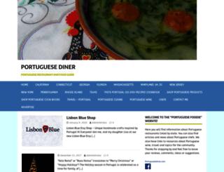 portuguesediner.com screenshot