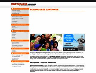 portugueselanguageguide.com screenshot