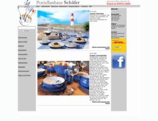 porzellan-schaefer.de screenshot