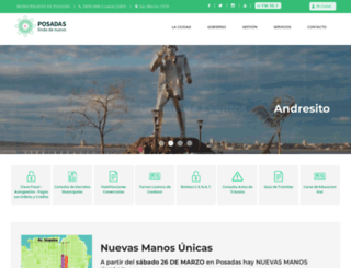 posadas.gov.ar screenshot