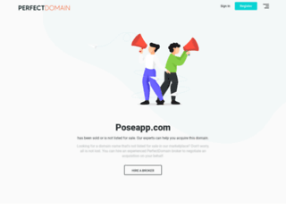 poseapp.com screenshot