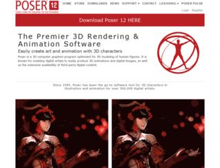 poser.smithmicro.com screenshot