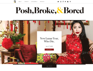 poshbrokebored.com screenshot