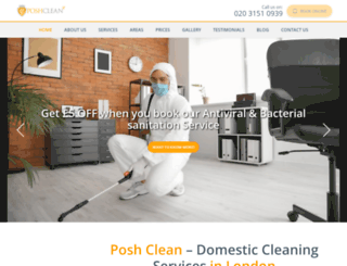 poshclean.co.uk screenshot