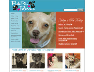 poshpetsrescue.org screenshot