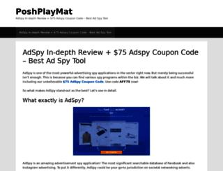 poshplaymat.com screenshot