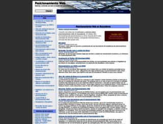posicionamientobuscadores.developers4web.com screenshot