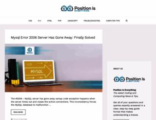 positioniseverything.net screenshot