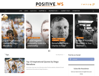 positive.ws screenshot