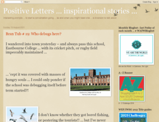 positiveletters.blogspot.com screenshot
