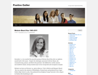 positiveoutlier.wordpress.com screenshot