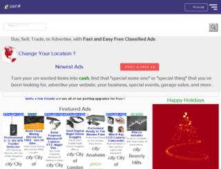 post-a-free-ad-in-bangalore.elistr.com screenshot