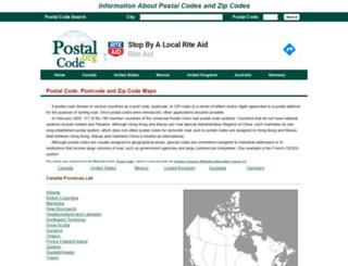 postal-code.org screenshot