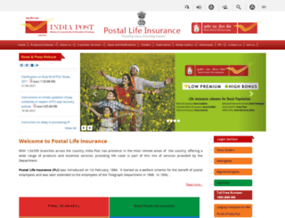 postallifeinsurance.gov.in screenshot
