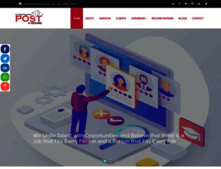 postaresume.co.in screenshot